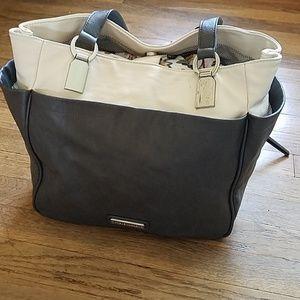Steve Madden Grey and White Shoulder Bag